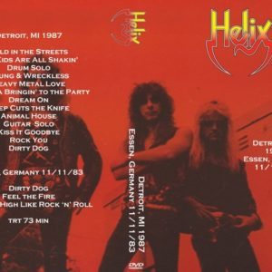 Helix 1987 Detroit, MI + 1983-11-11 Essen, Germany DVD