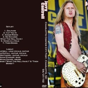 Jerry Cantrell 2002-04-27 Charlotte Center City Fest, Charlotte, NC DVD