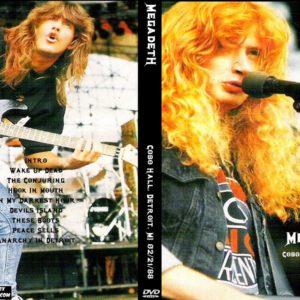 Megadeth 1988-02-21 Cobo Hall, Detroit, MI DVD