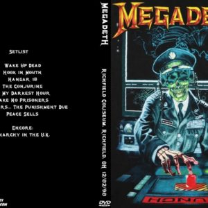 Megadeth 1990-12-02 Richfield Coliseum, Richfield, OH DVD
