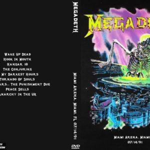 Megadeth 1991-07-14 Miami Arena, Miami, FL DVD