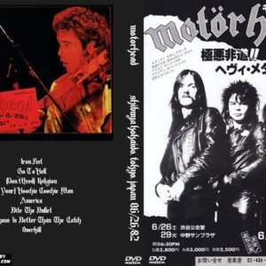 Motorhead 1982-06-26 Shibuya Kokaido, Tokyo, Japan DVD