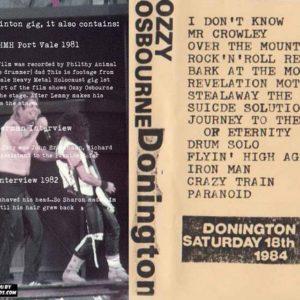 Ozzy Osbourne 1984-08-18 Donington, Castle Donington, England + Bonus DVD