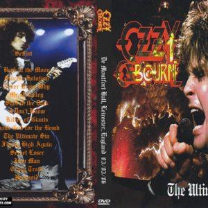 Ozzy Osbourne 1986-03-03 Leicester, England DVD