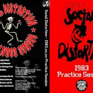 Social Distortion 1983 Practice Session, Fullerton, CA DVD