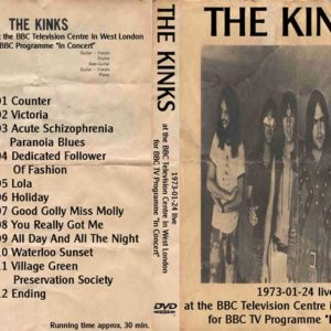 The Kinks 1972-01-21 In Concert BBC, The Rainbow Theatre, Finsbury Park, London DVD