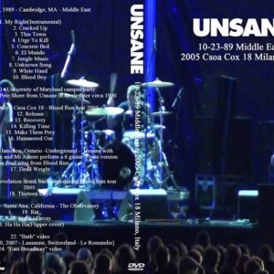 Unsane 1989-10-23 Middle East + 2005 Csoa Cox 18 Milano, Italy DVD