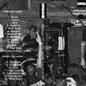 Unsane 1994-03-13 Jabberjaw + 1989-02-07 Middle East DVD
