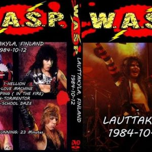 W.A.S.P. 1984-10-12 Lauttakyla, Finland DVD