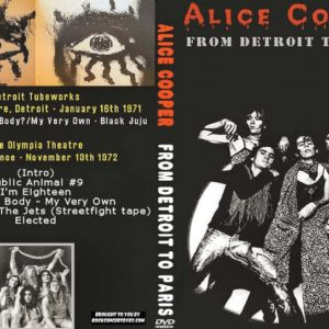 Alice Cooper 1971-1972 From Detroit to Paris DVD