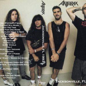 Anthrax 1993 Jacksonville, FL DVD