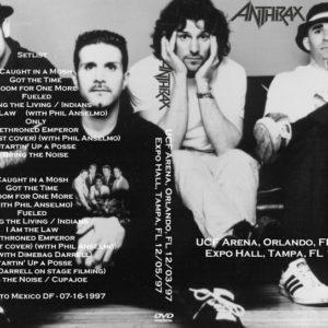 Anthrax 1997-12-03 UCF Arena, Orlando, FL + 1997-12-05 Expo Hall, Tampa, FL DVD