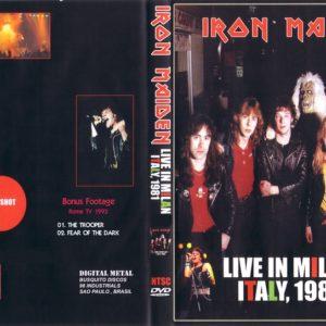 Iron Maiden 1981-03-30 Rolling Stone, Milan, Italy + 1993 Rome, Italy DVD