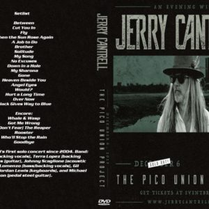 Jerry Cantrell 2019-12-06 Pico Union Project, Los Angeles, CA DVD