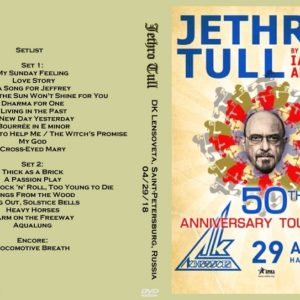 Jethro Tull 2018-04-29 DK Lensoveta, Saint-Petersburg, Russia DVD