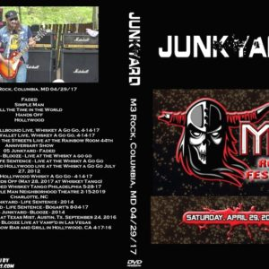 Junkyard 2017-04-29 M3 Rock, Columbia, MD DVD