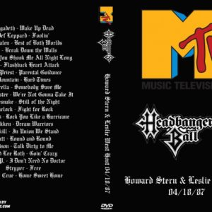 MTV Headbangers Ball 1987-04-18 Howard Stern & Leslie West Host DVD