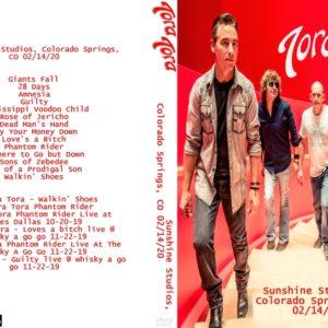 Tora Tora 2020-02-14 Sunshine Studios, Colorado Springs, CO DVD